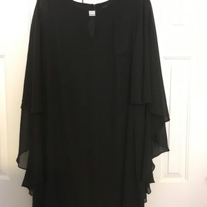 Tiana B. Dressy Dress with Sheer Sleeves